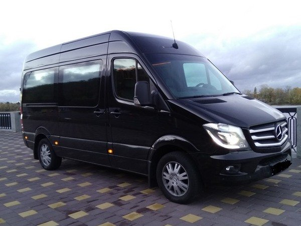 Rent a Sprinter BLACK minibus with a driver in Kiev